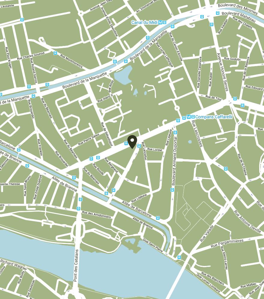 localisation The Botanist Pub à Compans Caffarelli, Toulouse