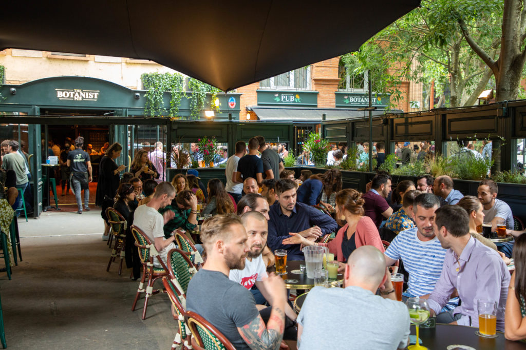 the botanist pub bar soiree ouverture opening toulouse terrasse couverte